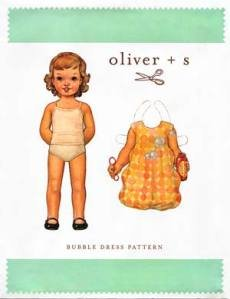 Oliver + S Bubble Dress Pattern sz 2T-5