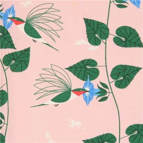 Birch Fabrics 100% Organic Cotton Charley Harper Backyard Hummingbirds
