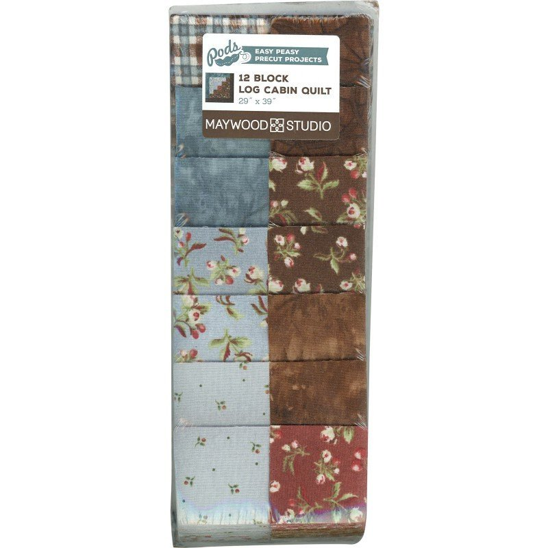 Maywood Studio Pods 12 Block Log Cabin Quilt