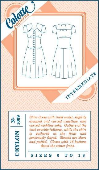 Colette Patterns Ceylon 1009