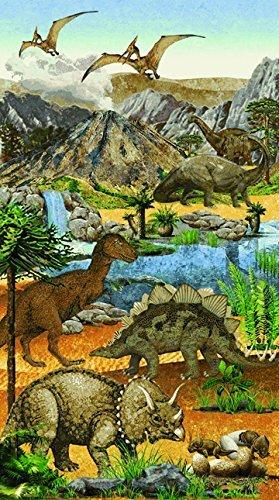 Northcott Stonehenge Kids Prehistoric Dinosaur Panel