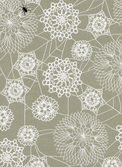 Cotton + Steel Collaborative Collection Spell Bound Doily Web Grey