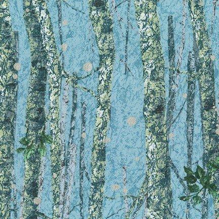 Robert Kaufman Nature's Window Metallic Evening 18463-80