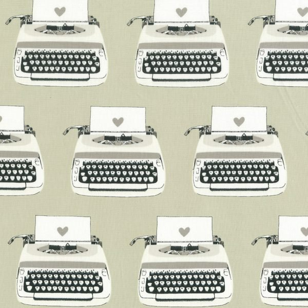 Cotton + Steel Collaborative Collection Black & White Typewriters
