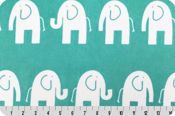 Shannon Premier Prints Cuddle Elephante Teal/Snow 60
