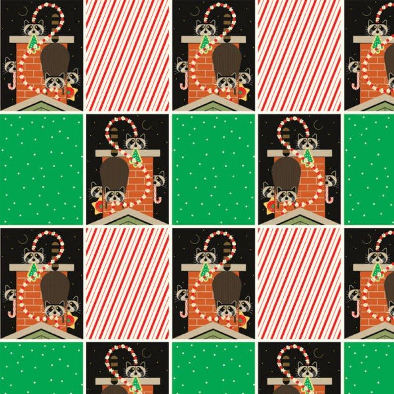 Birch Fabrics 100% Organic Charley Harper Holidays Christmas Capers