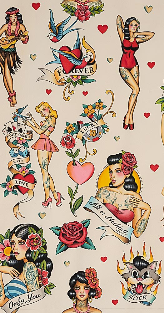 Alexander Henry Nicole's Prints Don't Gamble With Love 8781A