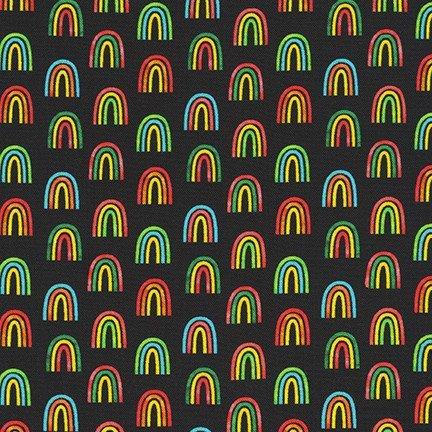 Robert Kaufman Chili Smiles AAK-20009-2 Black
