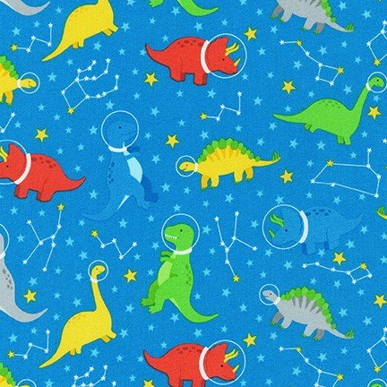 Robert Kaufman Dino-Soar AHE-19731-394 Blue Yonder