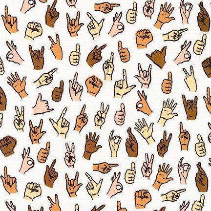 Robert Kaufman Hello Lucky Sign Language Natural