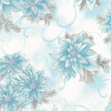 Robert Kaufman Holiday Flourish 12 Metallic Blue