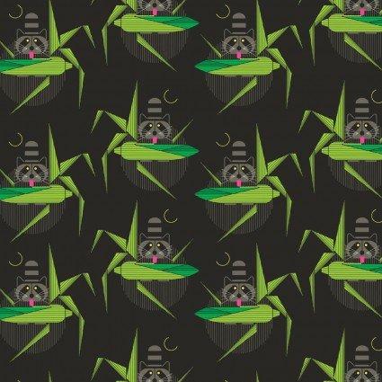Birch Fabrics Charley Harper Cats & Raccs Ch-108-Cornprone