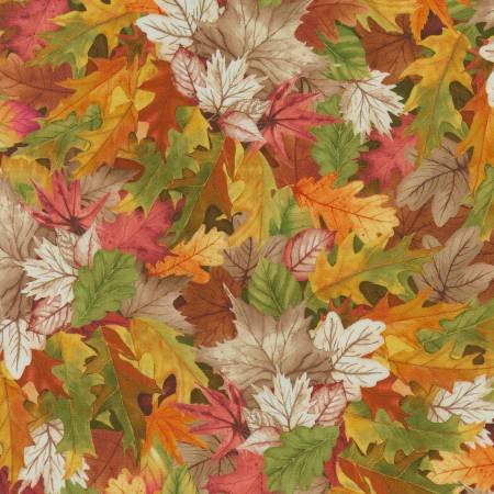 Timeless Treasures NATURE-CD7411 Multi Fall Leaves