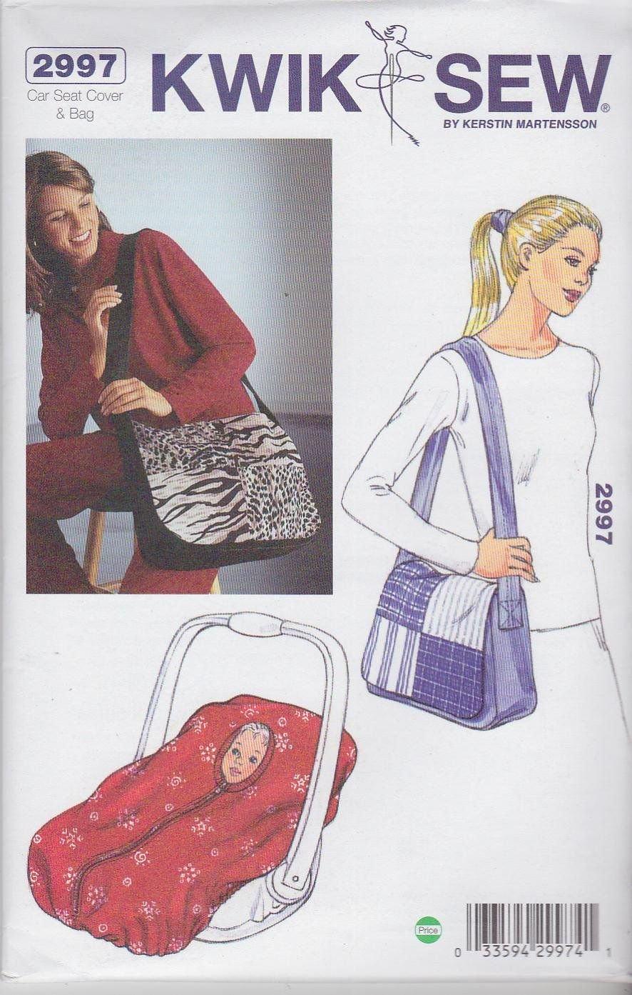 Kwik Sew 2997 Car Seat Cover & Bag