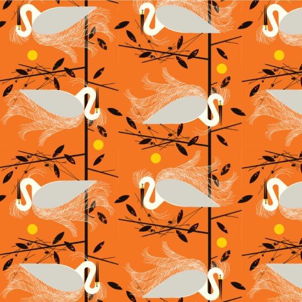 Birch Fabrics 100% Organic Cotton Best of Charley Harper Snowy Egret