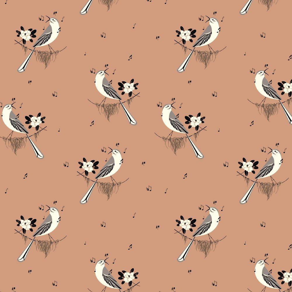 Birch Fabrics Poplin 100% Organic Cotton Charley Harper New Frontier Songbird