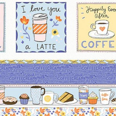 Clothworks Coffee Lover Panel Y2550-55 Multi