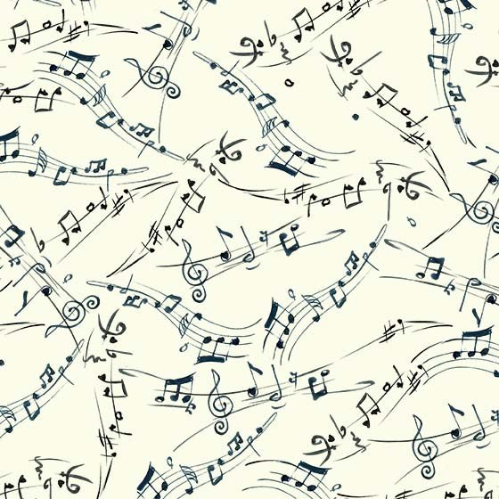 Michael Miller Musical Cats DCX9901-CREM-D Melody