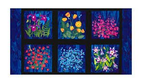 Clothworks Wildflower Panel Y1891-93