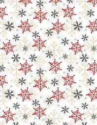 Henry Glass & Co. Flannel Gnomies Snowflake F9268-89 Multi White