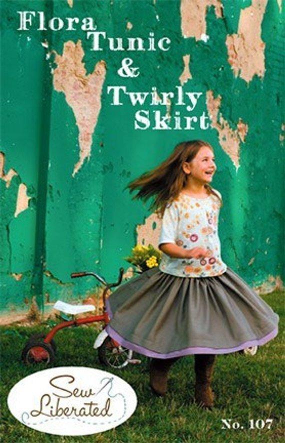 Sew Liberated Flora Tunic & Twirly Skirt sz 2T-10