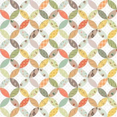 Henry Glass & Co. Bumble Garden Multi Orange Peel-Multi Flannel F1408-136