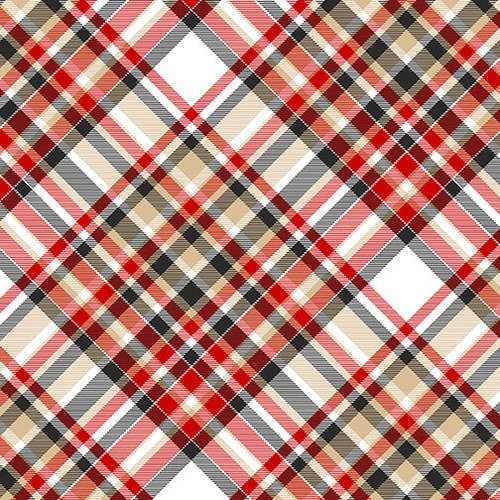 Henry Glass & Co. Flannel Gnomies Bias Plaid F9276-89 Multi