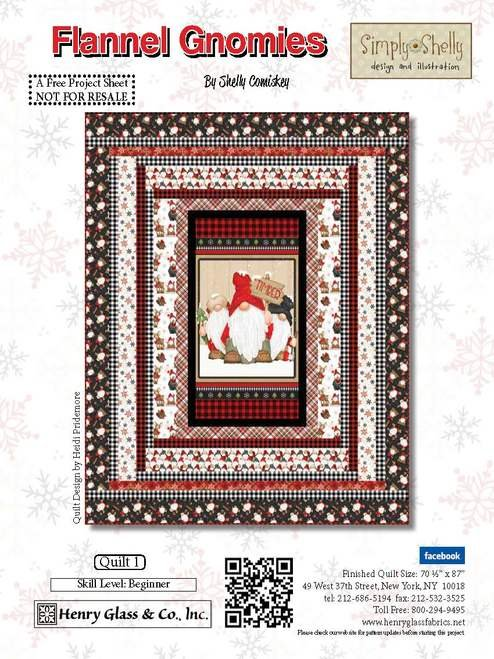 Henry Glass & Co. Flannel Gnomies Quilt Kit Quilt 1