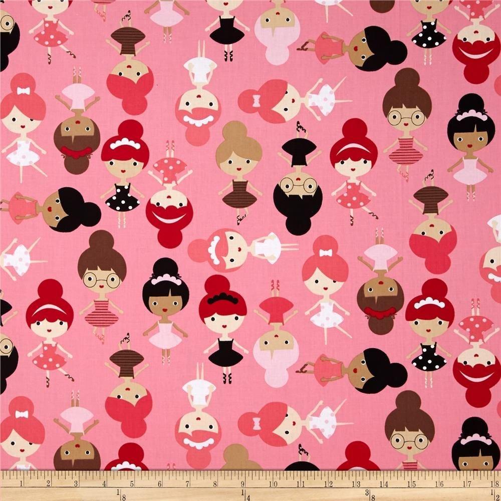 Robert Kaufman Girl Friends AAK-13381-262 Bubble Gum