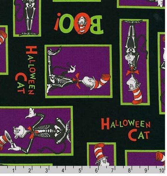 Robert Kaufman Spooktacular Seuss ADE-15304-282 SPOOKY