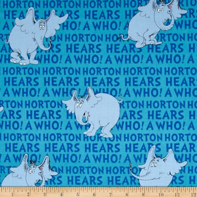 Robert Kaufman Horton Hears A Who Blue