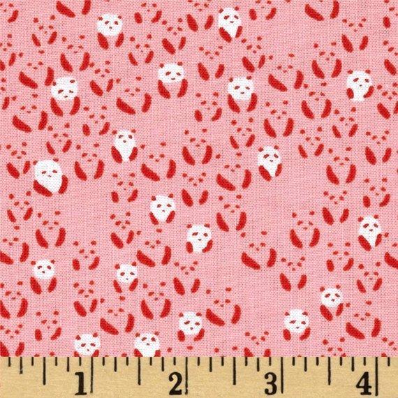 Cotton + Steel Alexia Abegg Paper Bandana Panda Bebe Pink