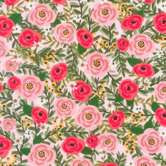 Robert Kaufman Laguna Jersey Prints Knit Pink 57