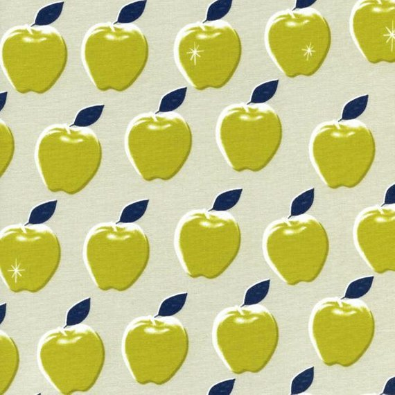 Cotton + Steel Melody Miller Picnic Apples Citron