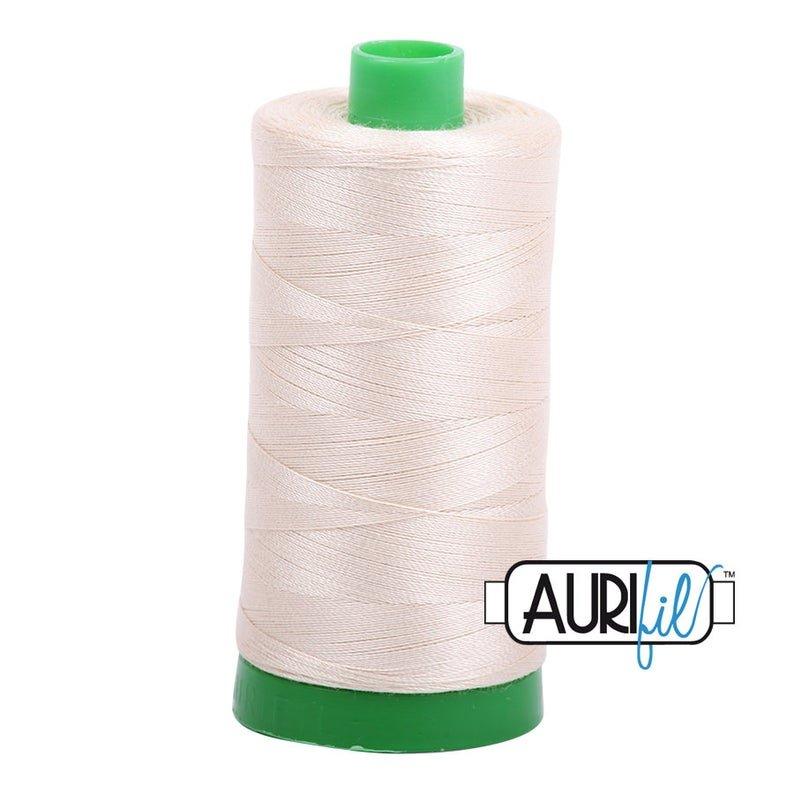 Aurifil 2310 Cotton Mako Thread Light Beige 40wt 1000m