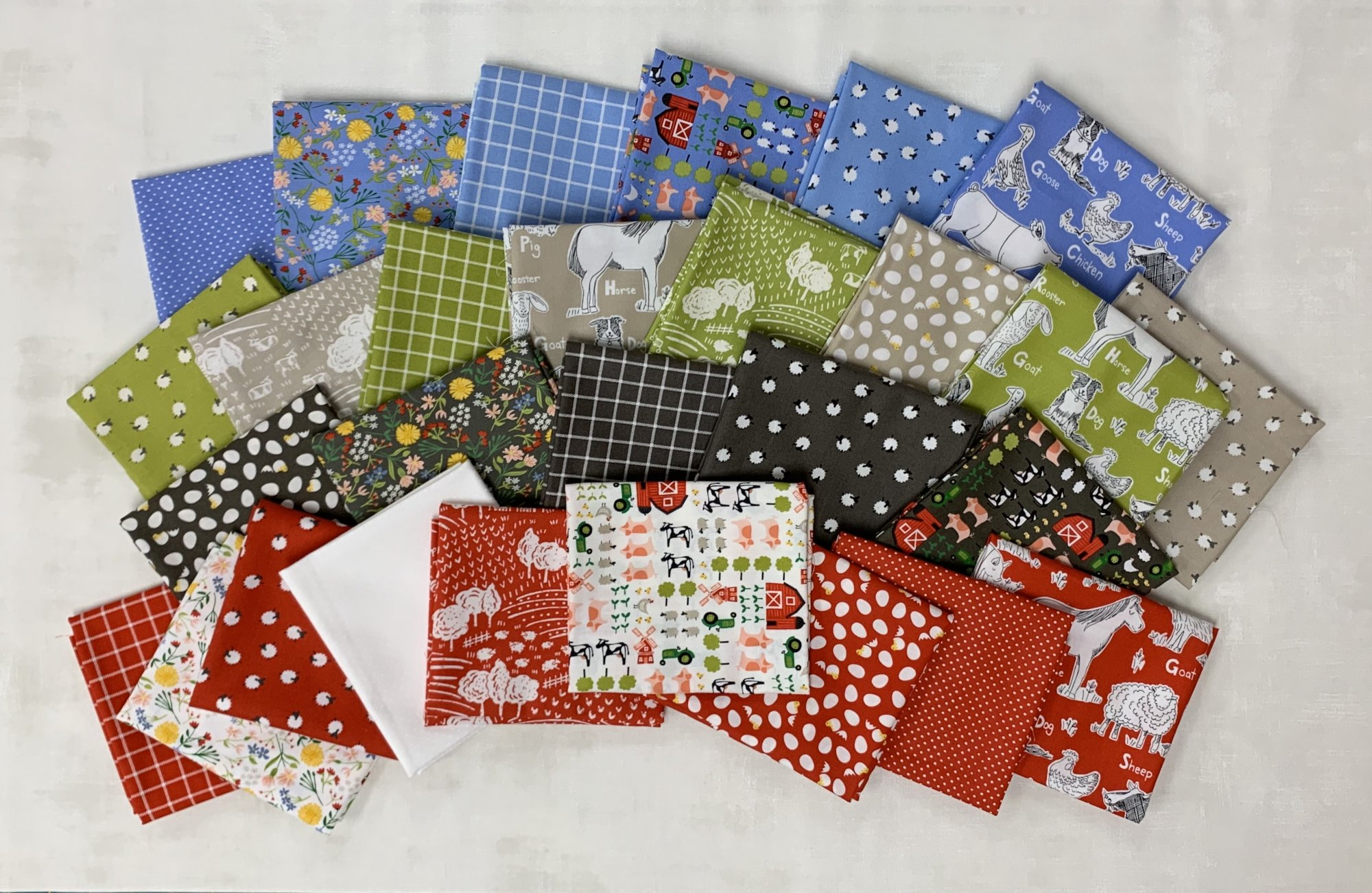 Moda On the Farm Half Yard Bundle 28pc