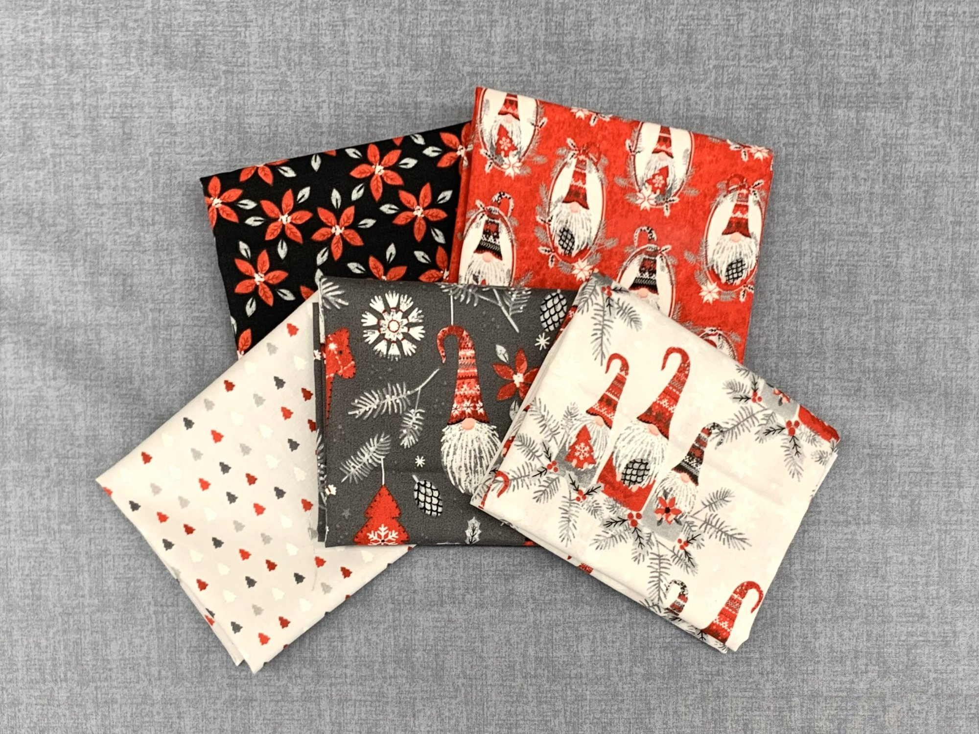 3 Wishes Hanging with My Gnomies 5pc Fat Quarter Bundle