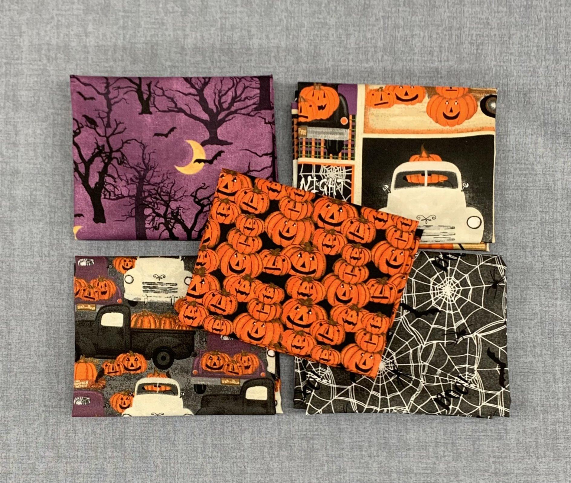 3 Wishes Spooky Night 5pc Fat Quarter Bundle
