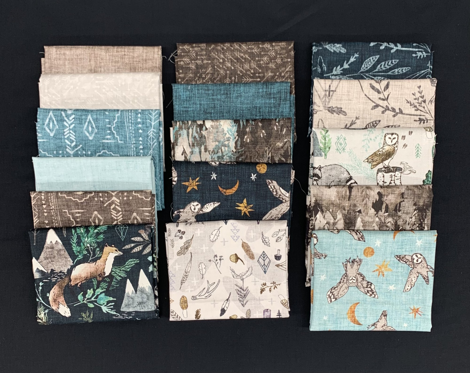 Figo Fabrics Forest Fable 16pc Fat Quarter Bundle