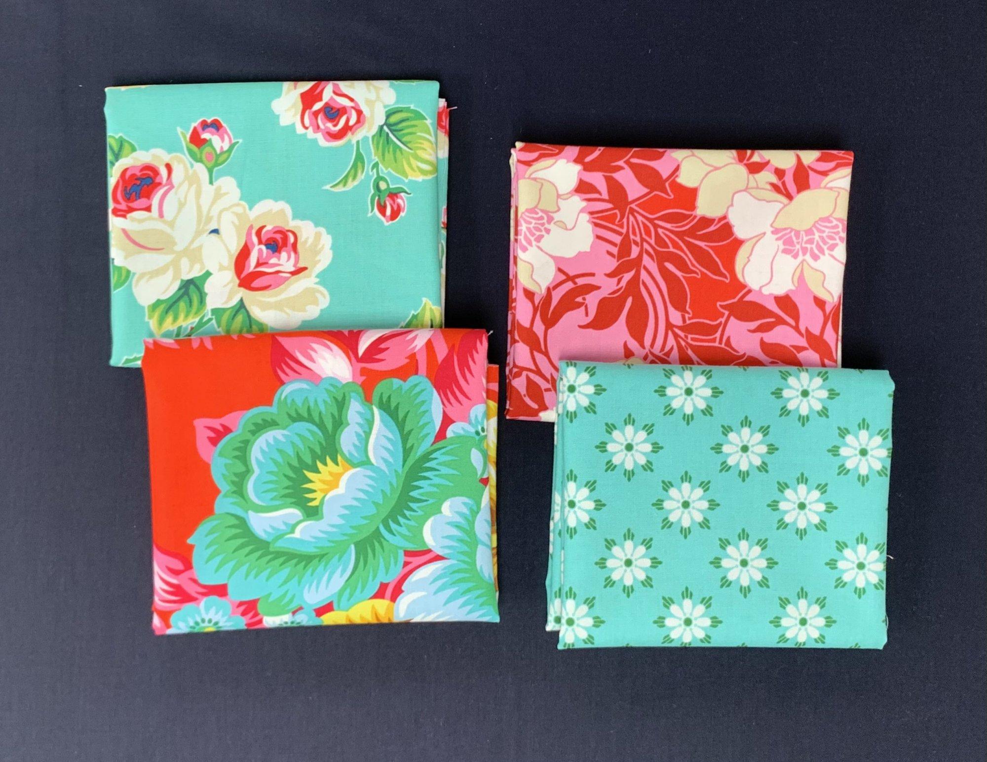 Figo Fabrics True Kisses 4pc Fat Quarter Bundle