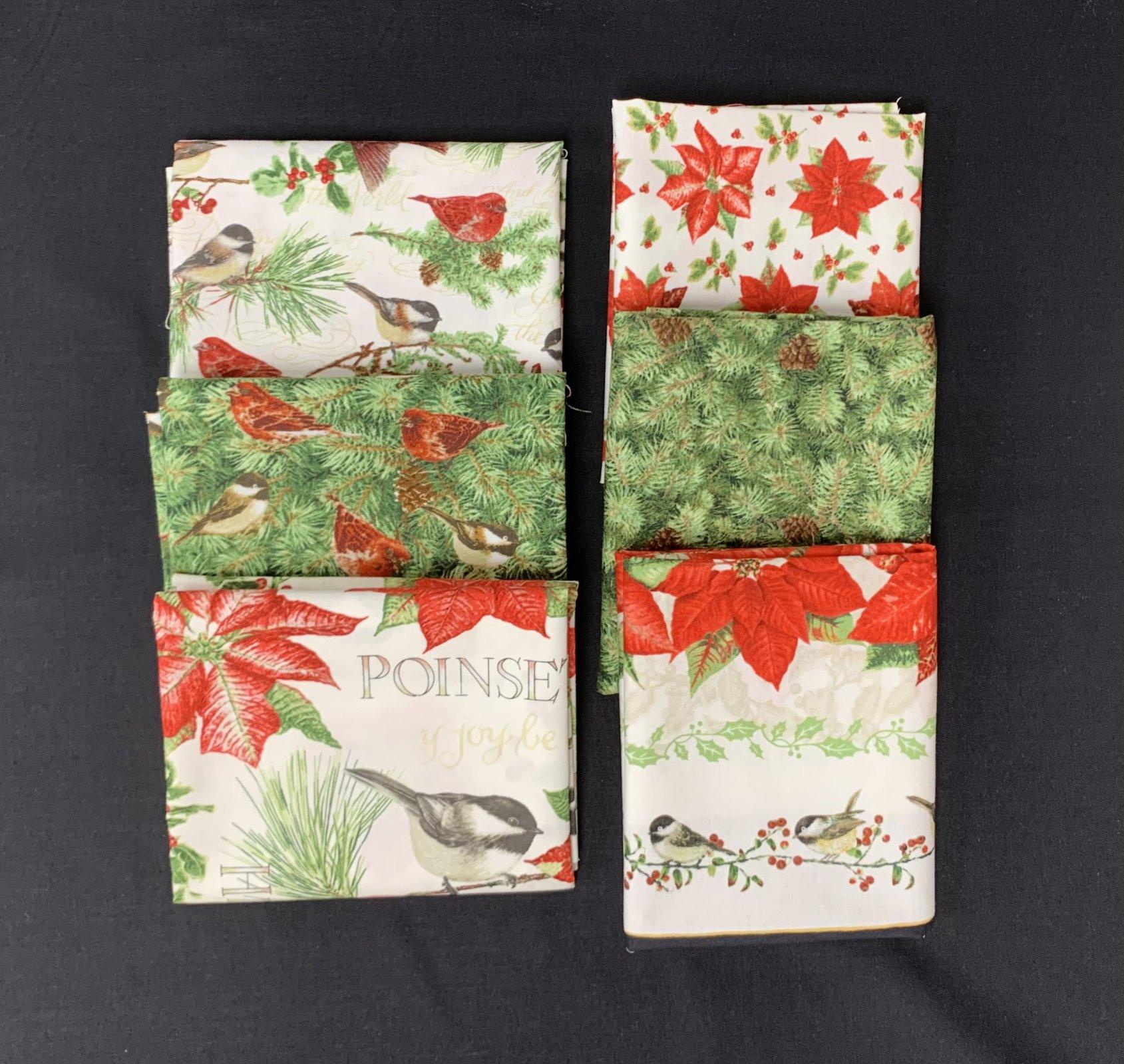 Henry Glass & Co. Holiday Botanical 6pc Fat Quarter Bundle