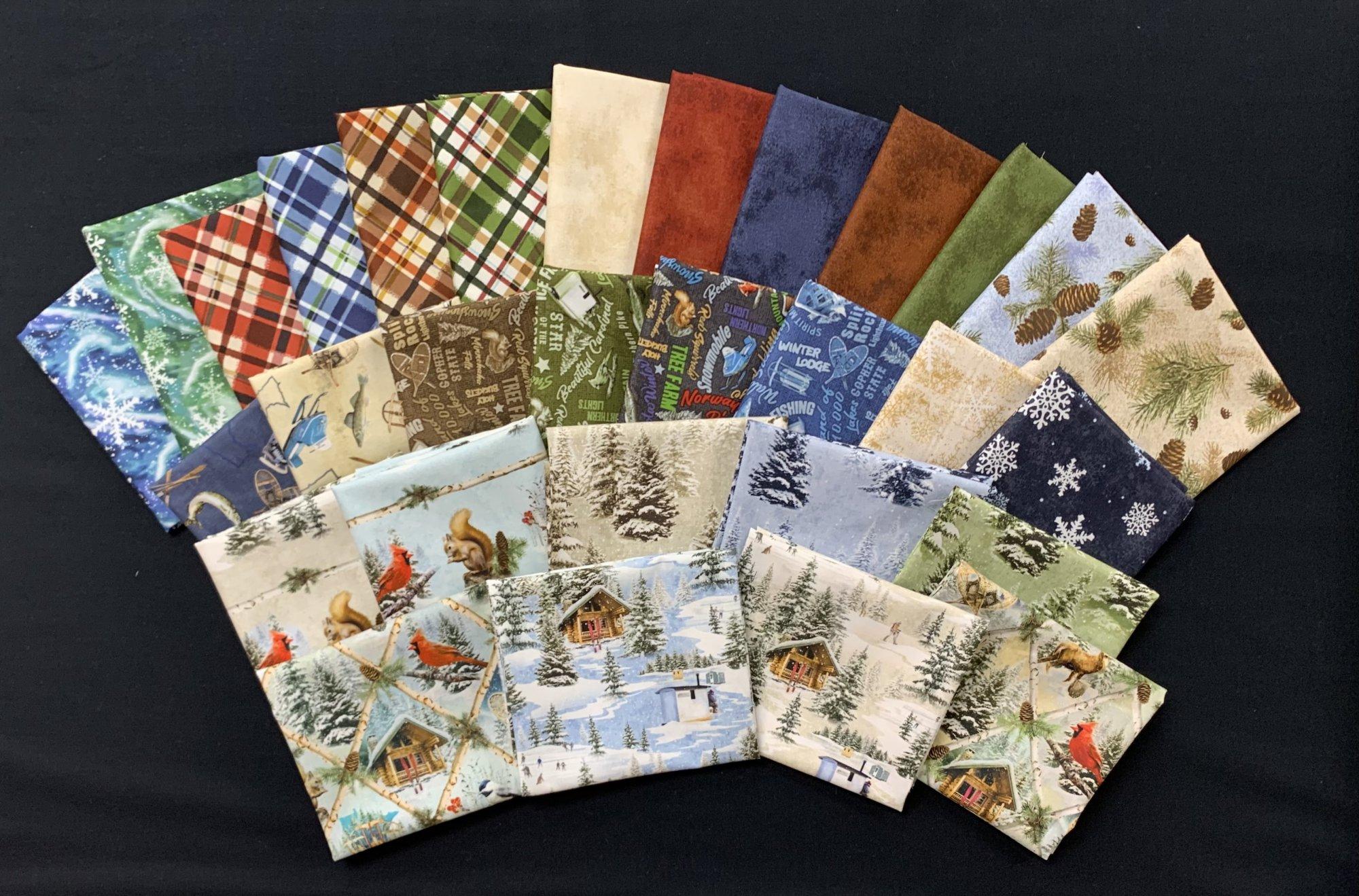 Clothworks Quilt Minnesota Shop Hop 2021 30pc Fat Quarter Bundle