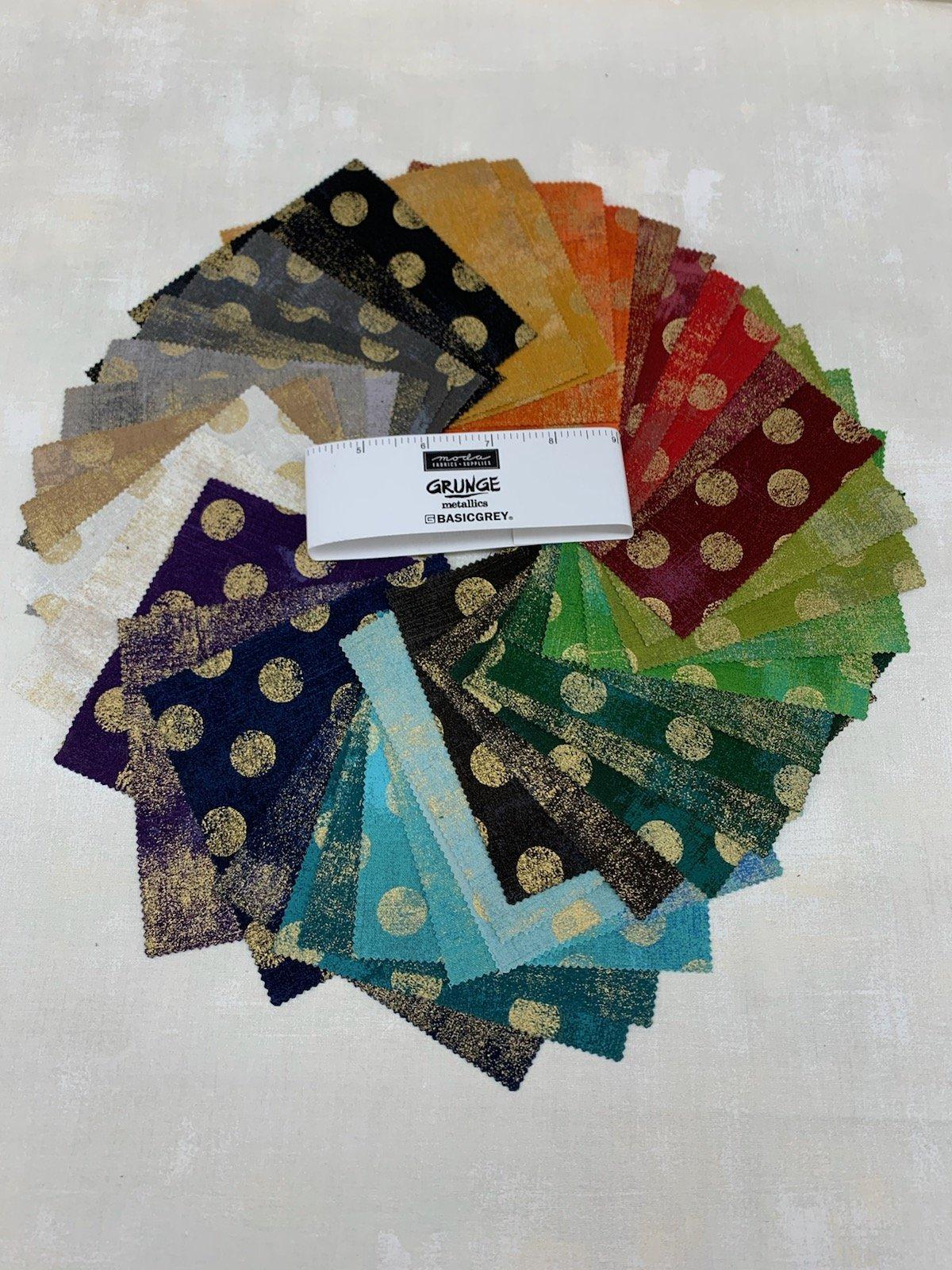 Moda Grunge Metallic Charm Pack