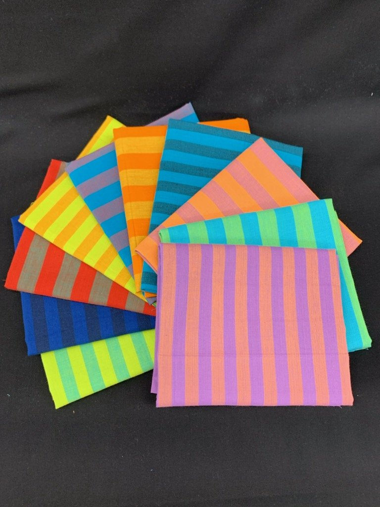 Free Spirit Kaffe Fassett Shot Cotton Half Yard Bundle 10pcs