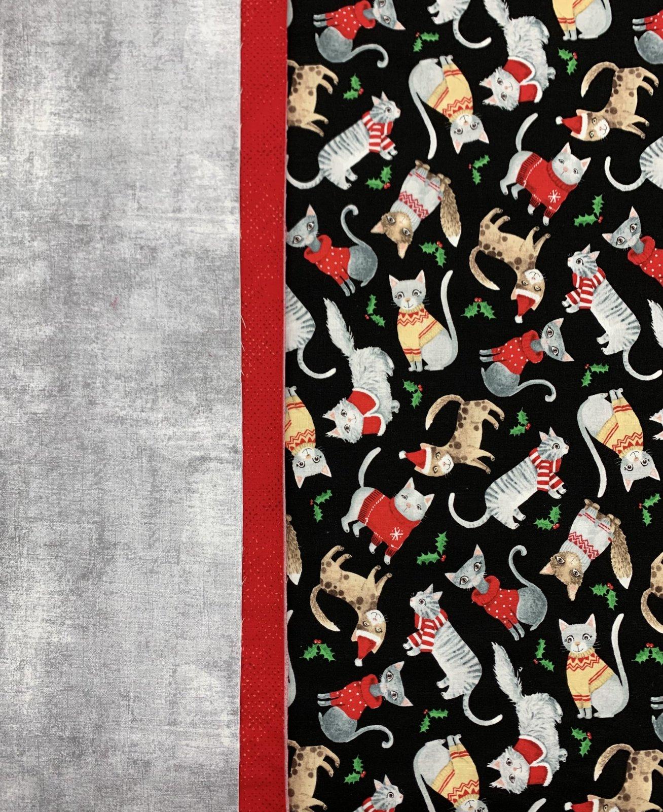 Christmas Cats Pillowcase Kit