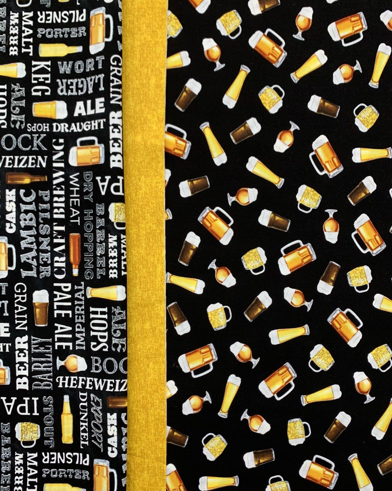Beer on Black Pillowcase Kit