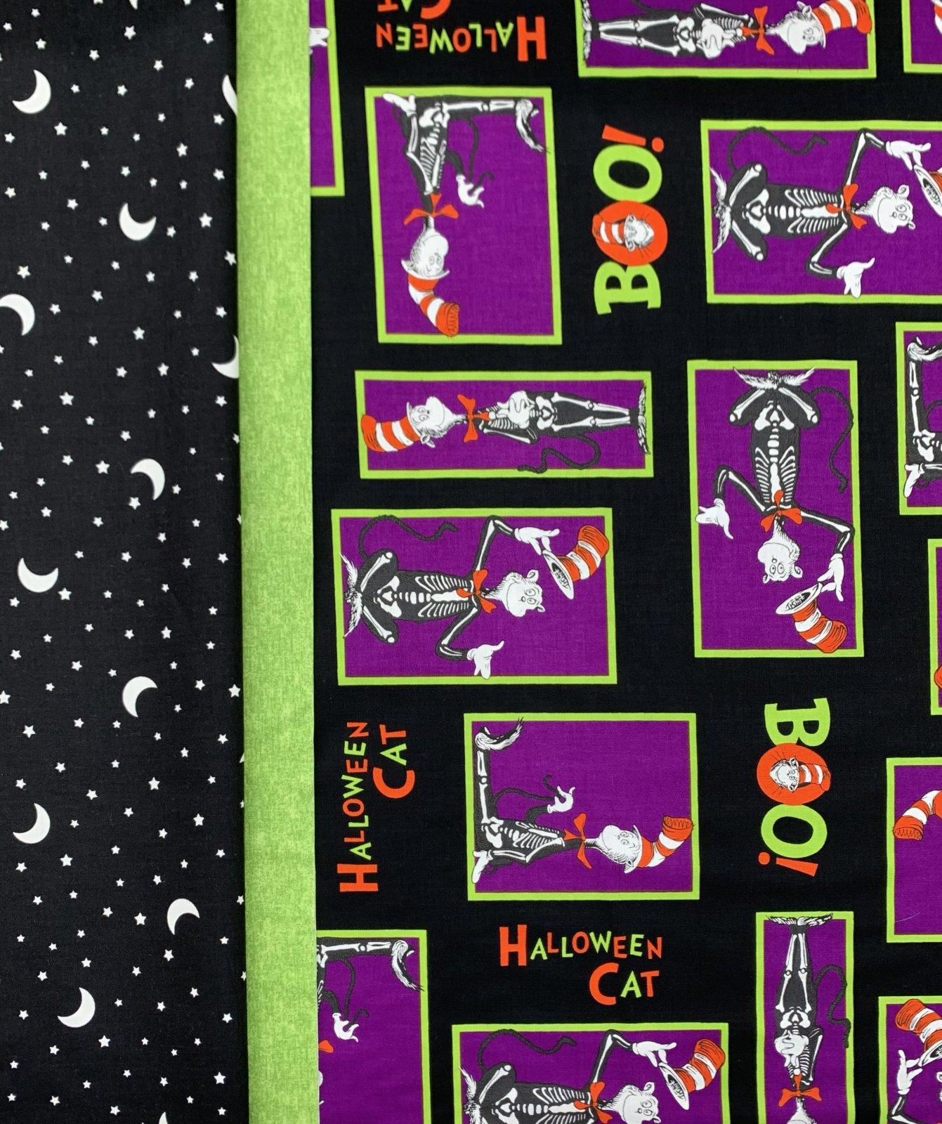 Dr. Seuss Halloween Cat Pillowcase Kit