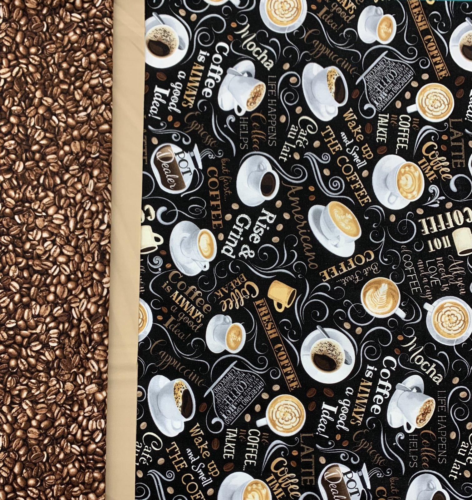 Timeless Treasures Coffee Pillowcase Kit