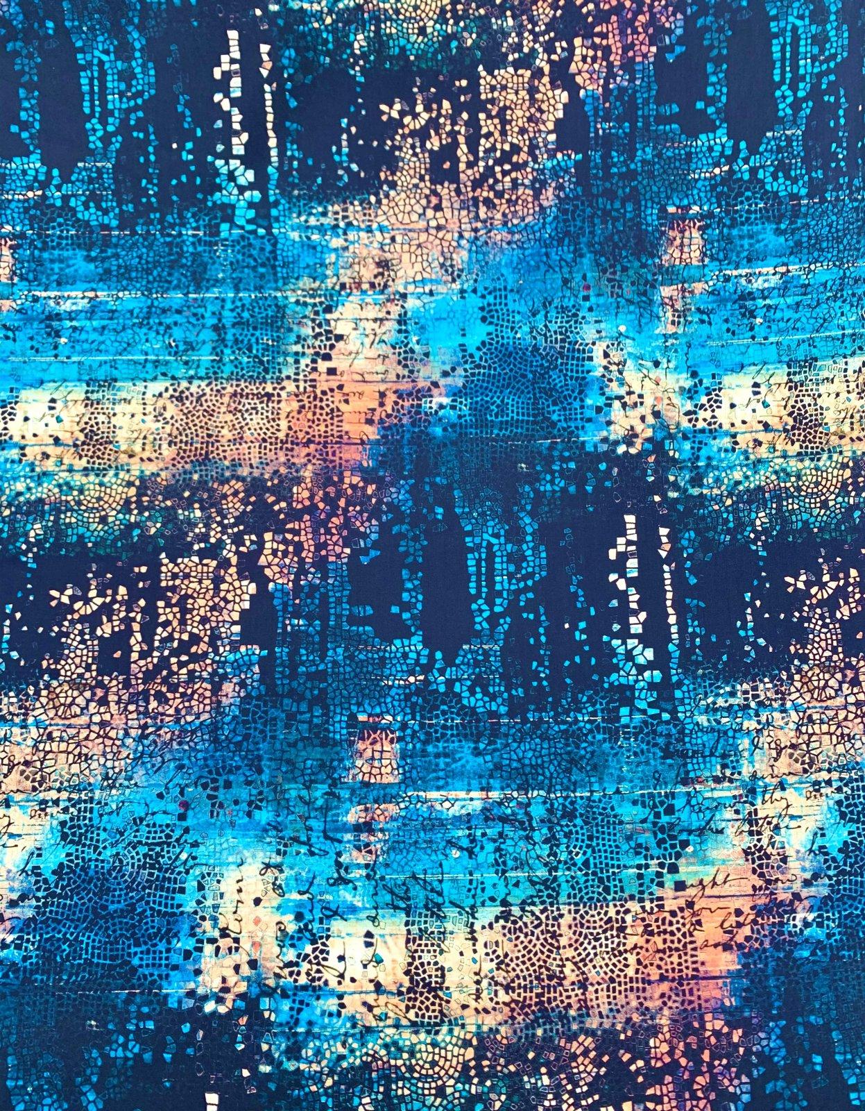 Free Spirit Abandoned- Fractured Mosaic- Indigo PWTH130.INDIGO
