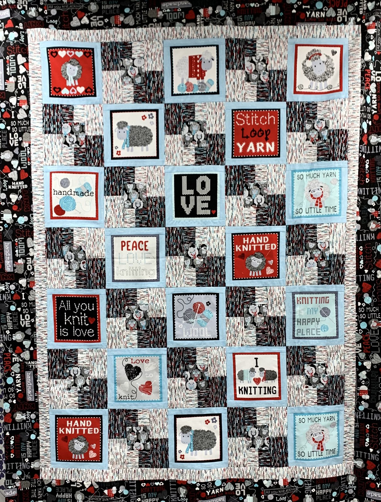 Kanvas Studio All You Knit Is Love 5 Yard Quilt Kit